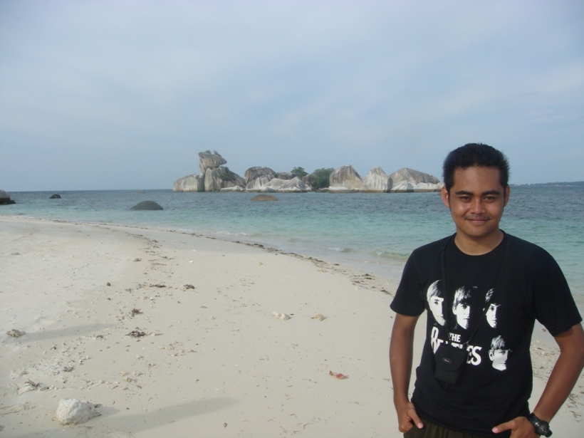 Garuda rock, taken from aji island