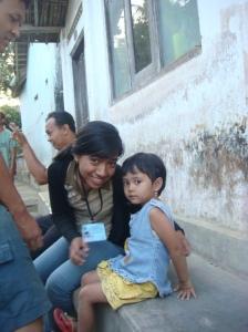 Diaz dan Darel ( anak dari warga karanggeneng )