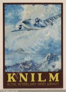 Poster maskapai KNILM
